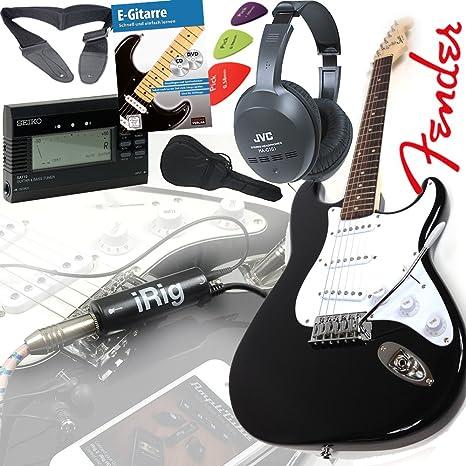 Fender Squier Bullet Strat guitarra eléctrica en negro + iRig ...
