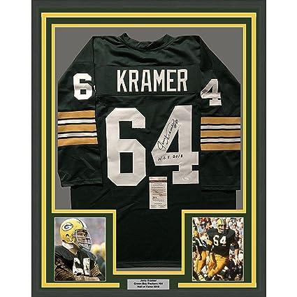 Jerry Kramer Autographed Jersey - FRAMED HOF 33x42 COA - JSA Certified -  Autographed NFL Jerseys f166943e8
