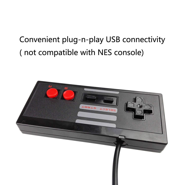 Mekela 5.8 feet Classic USB Wired Controller Gamepad resembles NES for Windows PC MAC (Black2 Black2)