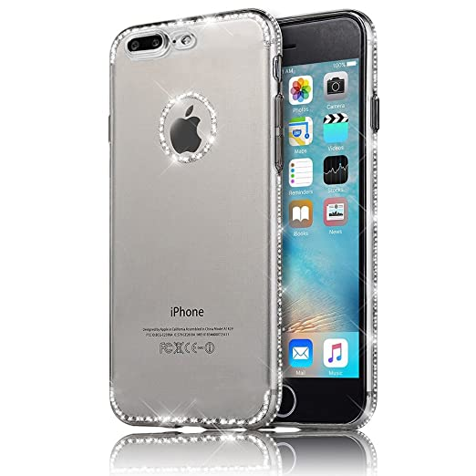 15 opinioni per Sunroyal iphone 8 plus Cover, iphone 7 plus case (5.5 pollici) Bling Strass