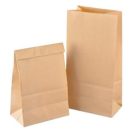 Gimars [100 PCS] Bolsas de papel marrón, Bolsas de regalo ...