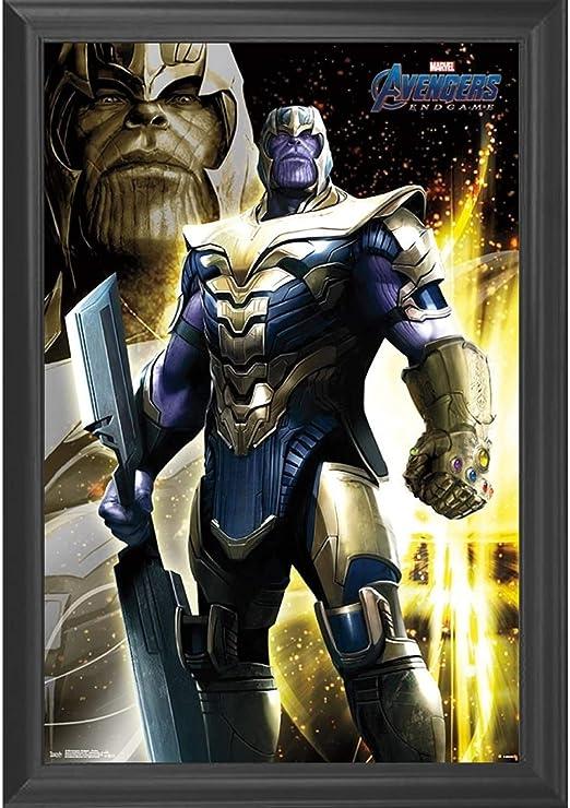 Deadpool Thanos Infinity Stonnes Custom Art Poster Print Wall Decor