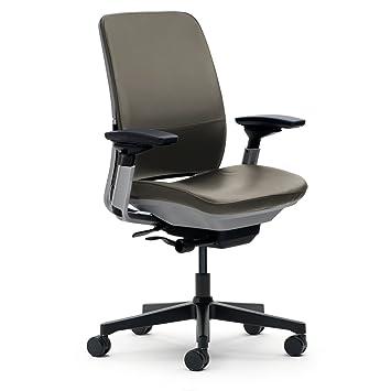 amazon com steelcase amia chair soapstone leather kitchen dining