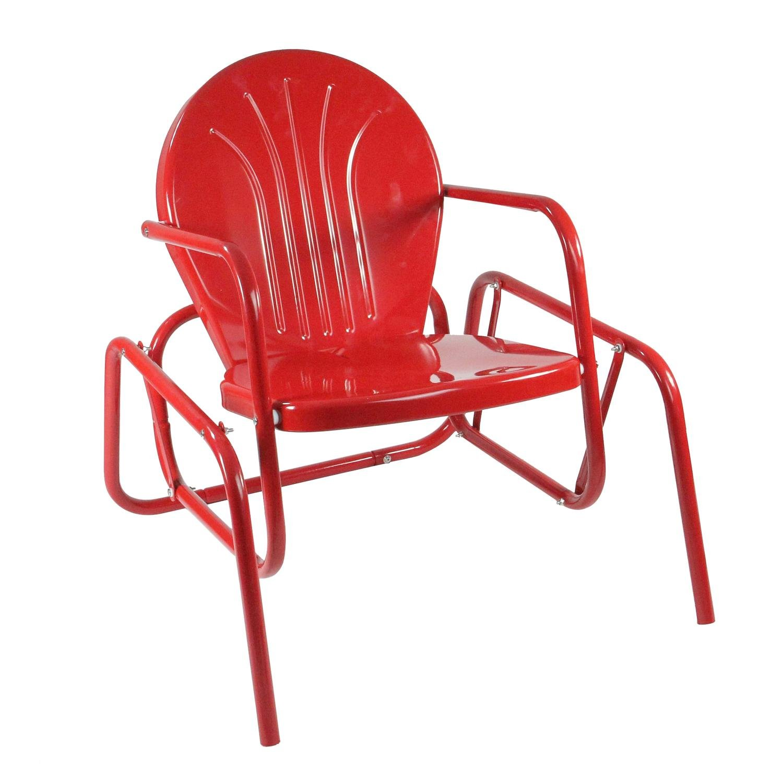 Northlight Vibrant Red Retro Metal Tulip Outdoor Single Glider Garden  Outdoor Jpg 1500x1500 Tulip Glider Chair