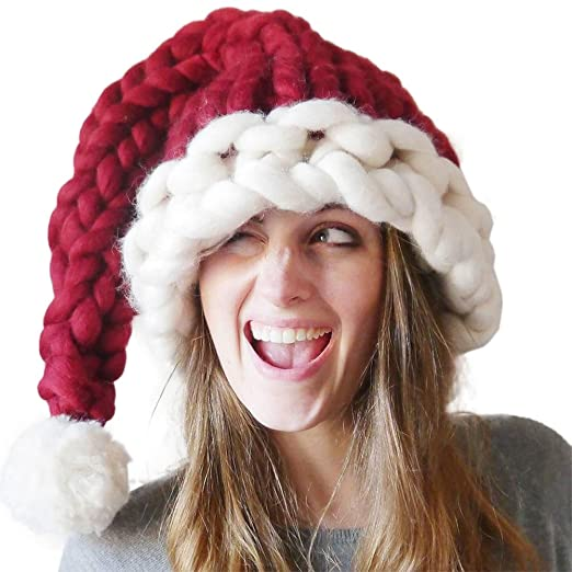 ccd92786bdc Image Unavailable. Image not available for. Color  TOPmountain Family  Lovely Funny Santa Hat Christmas Hat for Women Men