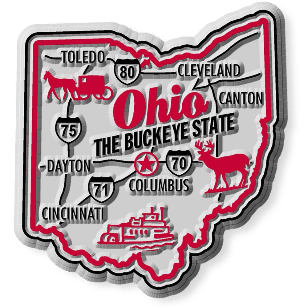 Premium State Map Magnet - Ohio