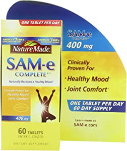 Nature Made SAM-e Complete 400 mg. Tablet (Helps Support Healthy Mood & Joint Comfort) Value Size 60 ct