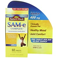 Nature Made SAM-e Complete 400 mg. Tablet (Helps Support Healthy Mood & Joint Comfort...