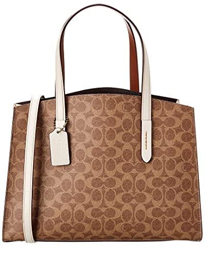 f57458f79061c COACH Women's Charlie Carryall in Signature Canvas B4/Chalk One Size:  Handbags: Amazon.com