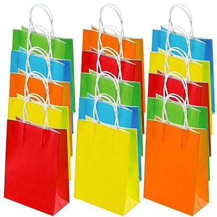 Amazon.com: Cooraby - 40 bolsas de papel para fiestas con ...