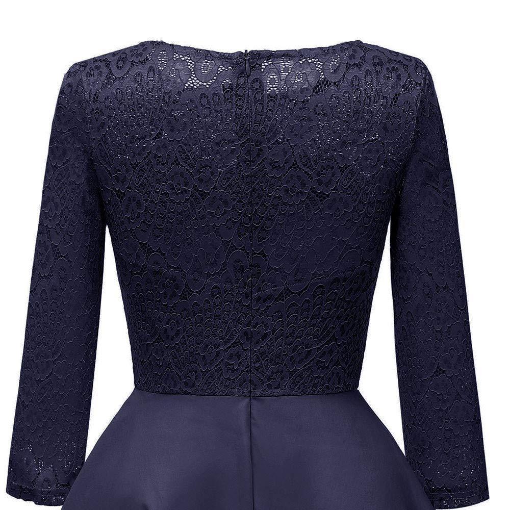 Fuxitoggo Vestido de Boda de la Princesa del cordón del Partido de la Vendimia de Las Mujeres (Color : Navy, tamaño : Medium): Amazon.es: Hogar