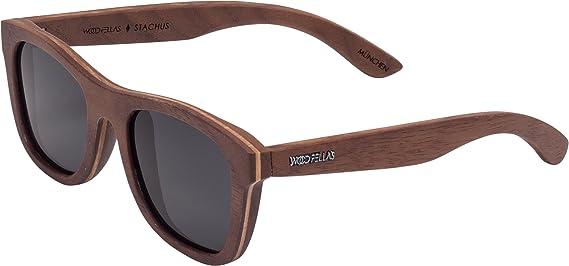 RawWood Polarisierte Sonnenbrillen aus Bambusholz Holz -Lakers Braun / Orange dAFS4El0