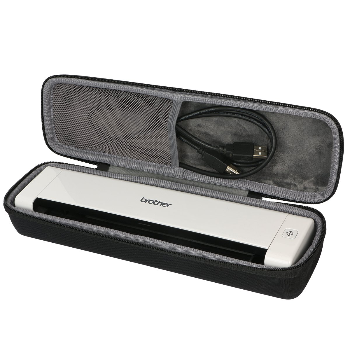 Hard Travel Case for Brother Mobile Color Page Scanner DS-720D by co2CREA by Co2Crea
