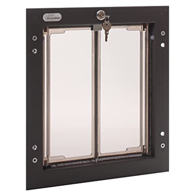PlexiDor Performance Pet Doors Medium Bronze Door Mount