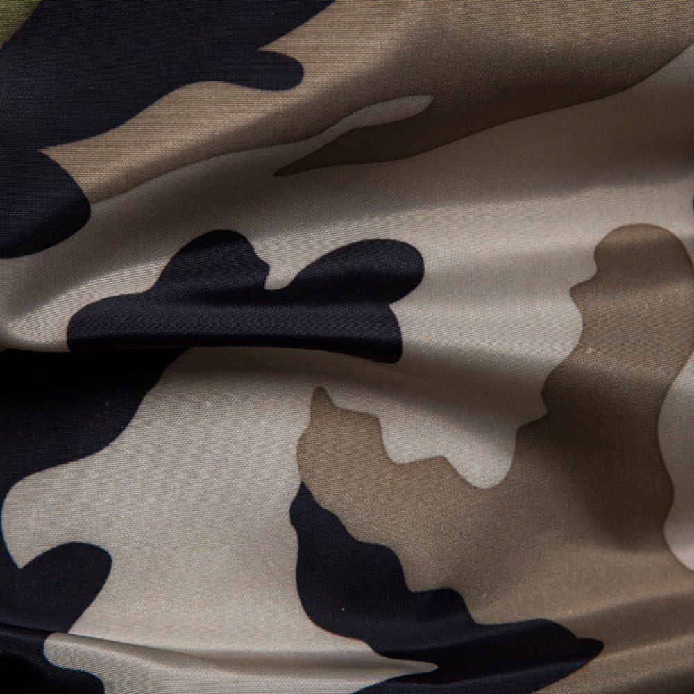 riou Hombre Camuflaje Estampado Bronceado Sudadera con Capucha Blusa Superior Sudadera con Capucha