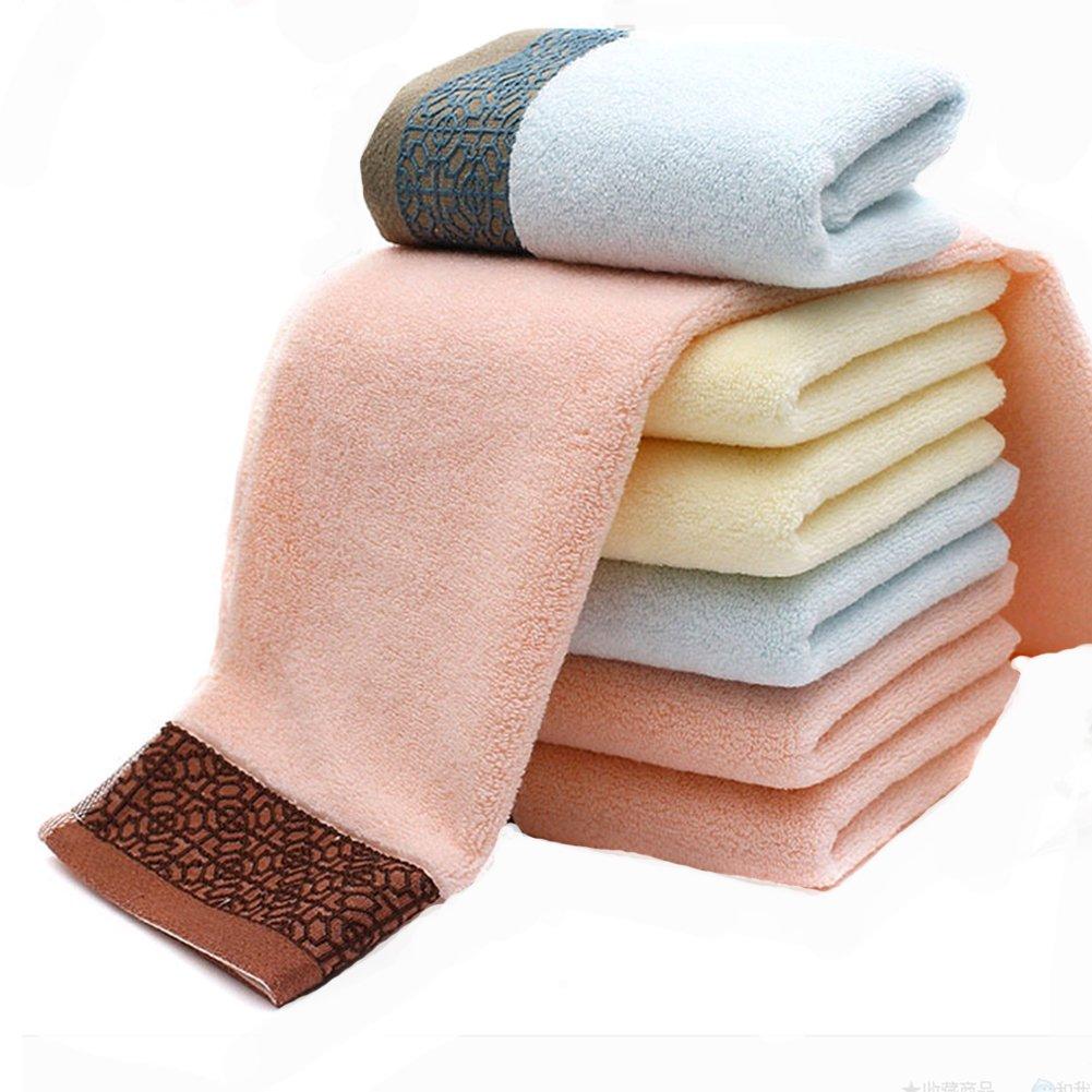 Mano grande de algodón jacquard toallas lisas de raso color (1pack, 13 x 29 cm) uso multiusos para baño, mano, cara, gimnasio y Spa: Amazon.es: Hogar