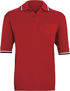 product image for ADAMS USA Short Sleeve Baseball Umpire Shirt - Sized for Chest Protector, Scarlet