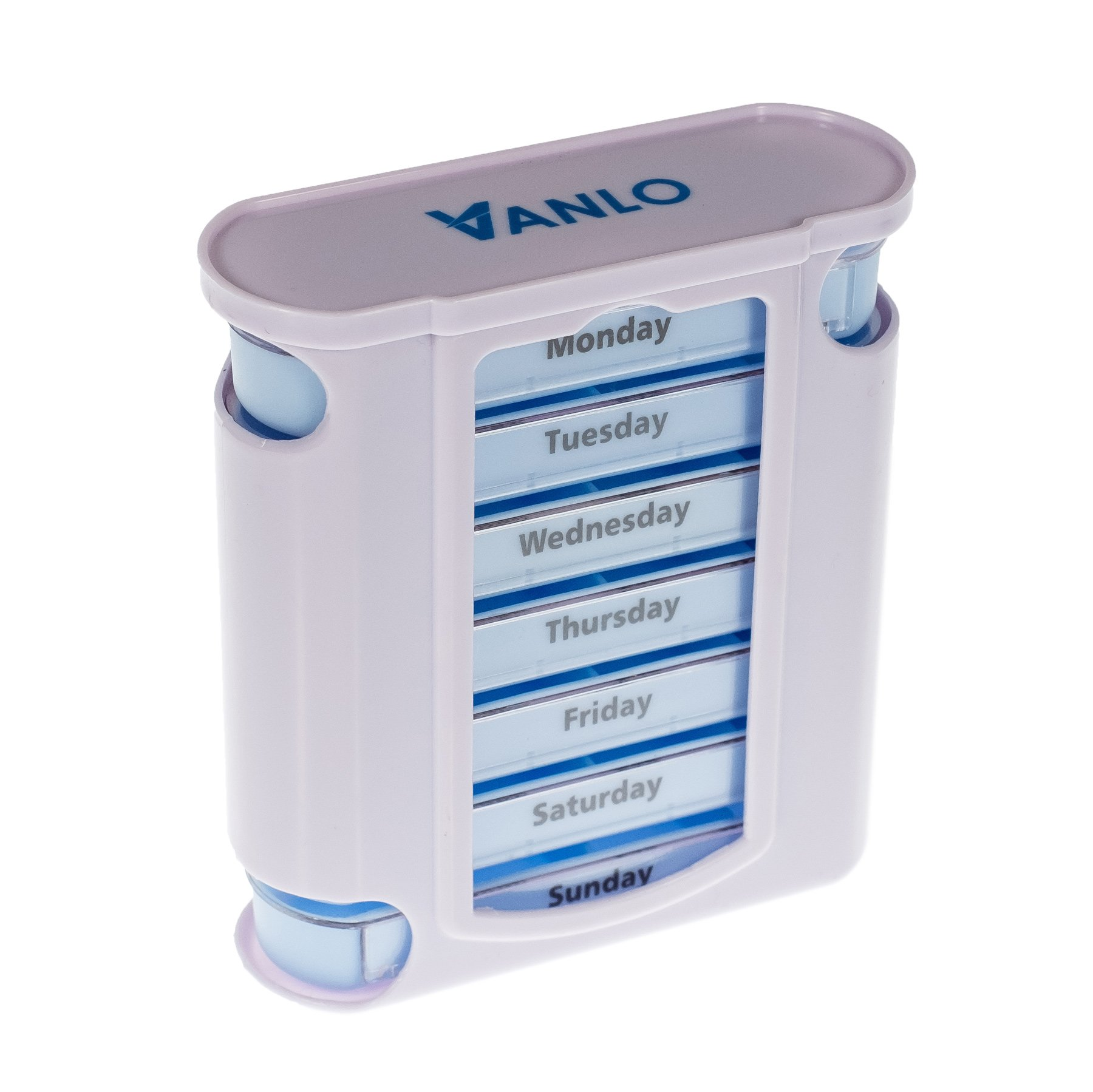 Amazon oveo pill organizer weekly case with pill splitter tower pill box organizer with 7 single box and 4 daily compartments by vanlo solutioingenieria Gallery