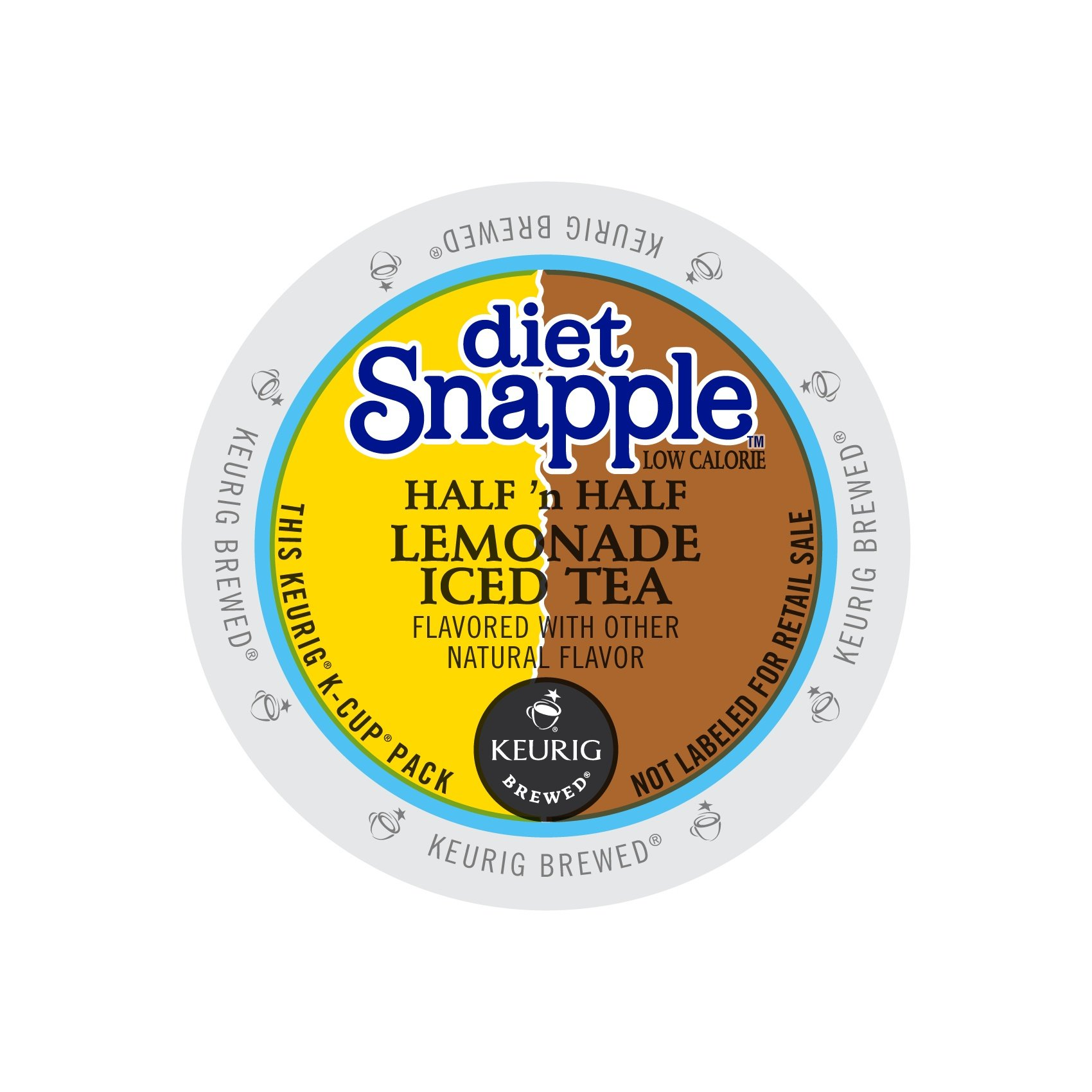 Snapple Keurig Single-Serve K-Cup Pods, Diet Half 'n Half Lemonade Iced Tea, 72 Count (6 Boxes of 12) by Snapple
