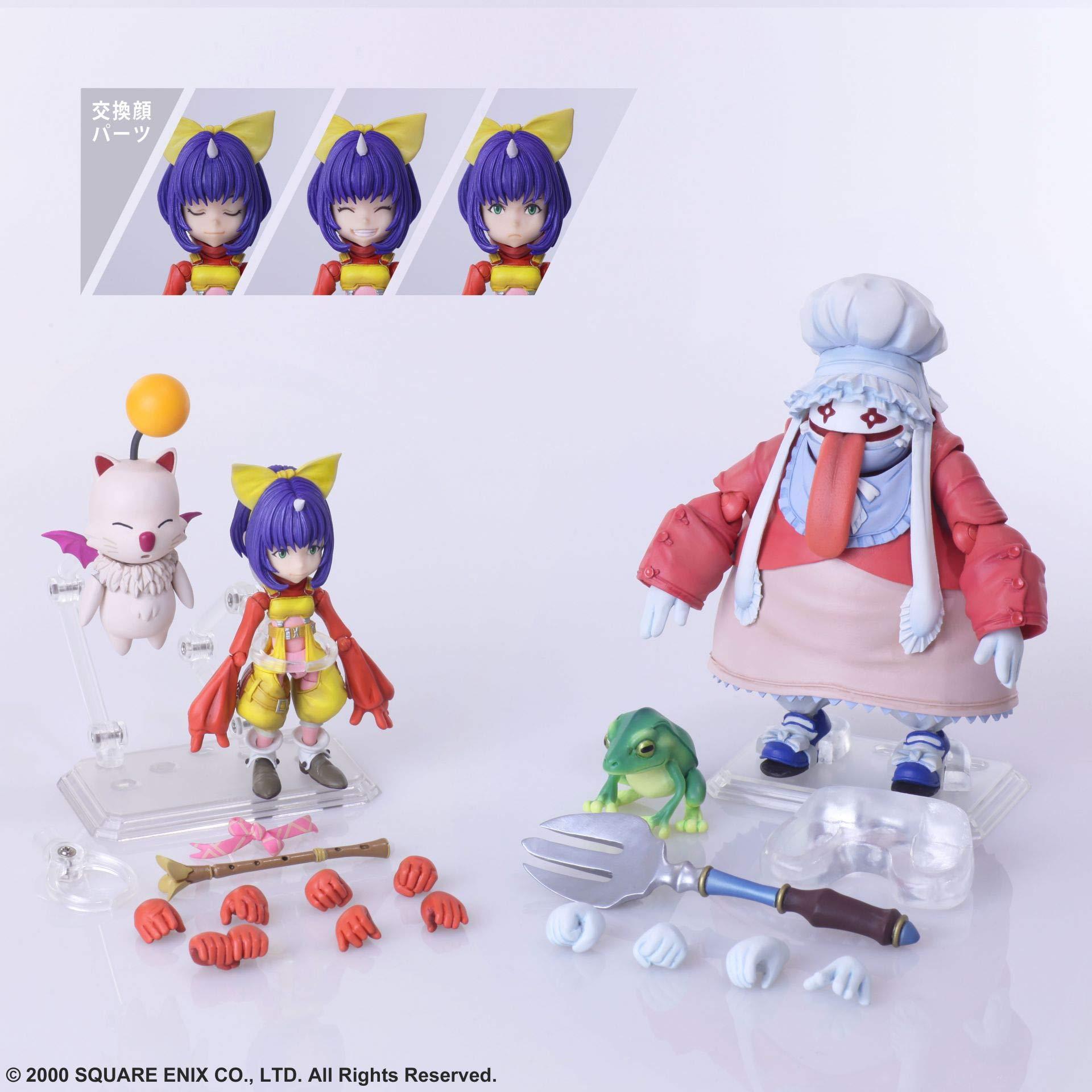 Square Enix Final Fantasy IX: Eiko Carol & Quina quen Bring Arts Action Figure Set, Multicolor
