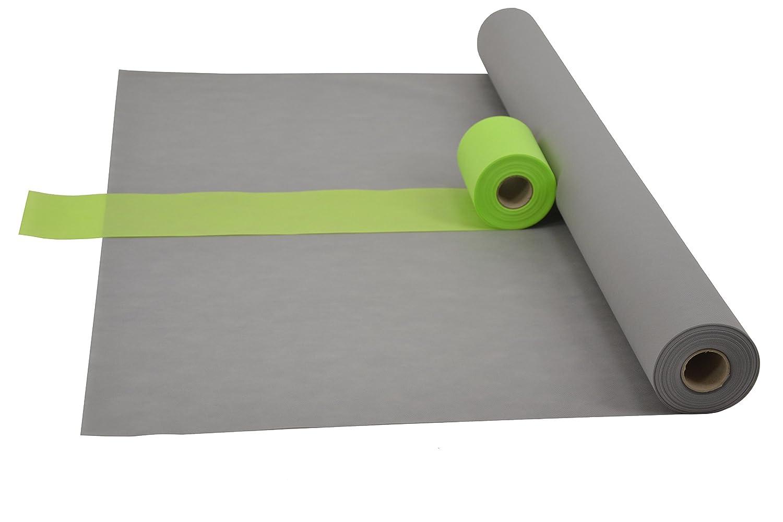 Fachhandel für Vliesstoffe Sensalux Kombi-Set 1 Tischdeckenrolle 1,5m x 25m 25m 25m + Tischläufer 15cm (Farbe nach Wahl) Rolle grau Tischläufer apfelgrün B017HJMR0W Tischdecken be17e7