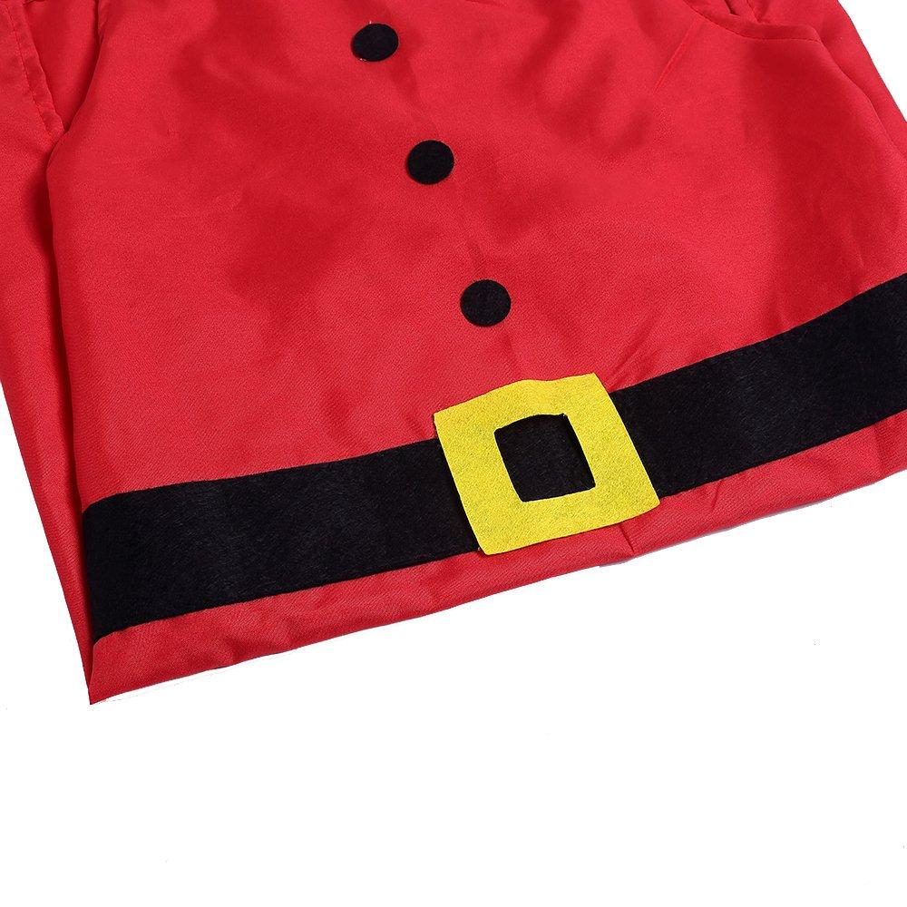 Zogin Tablier de Cuisine Noël Tablier Rouge Motif en Costume Père Noël pour Décoration Fête Noël