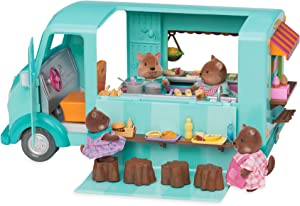 Li'l Woodzeez Food Truck – Honeysuckle Sweets & Treats – 89pc Toy Set with Play Food, Ice Cream Machine, and Kitchen – Toys and Gifts for Kids Age 3+