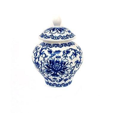 Ancient Blue and White Porcelain Helmet-shaped Temple Jar (Medium size)