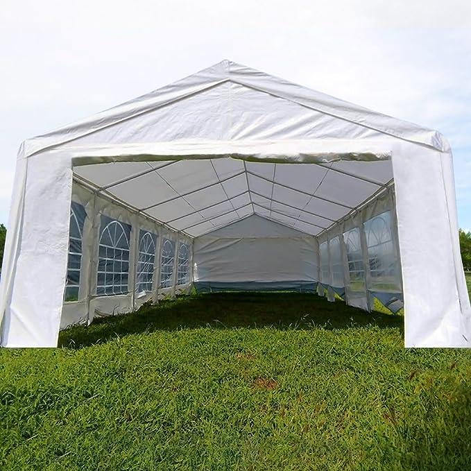 Carpa para fiestas muy resistente, para bodas, cenador para eventos al aire libre, de Quictent., color blanco, tamaño 4x10M, 270.07, 393.70 x 157.48 x ...