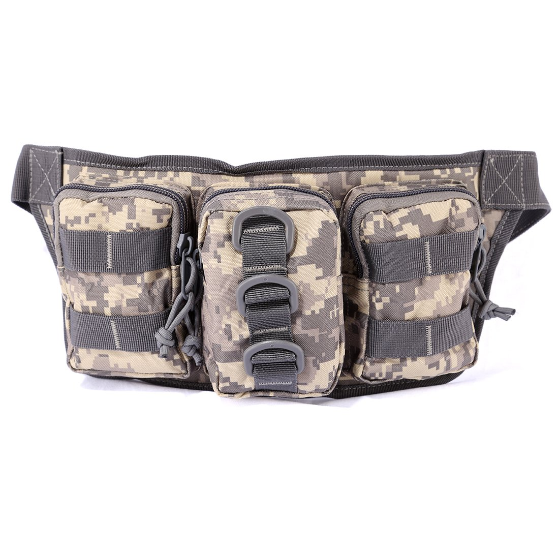 CS bags, Lommer 13.78x1.97x6.3In Small-sized Outdoor Waterproof Tactical Three-pouch Waist Bag for Nerf CS