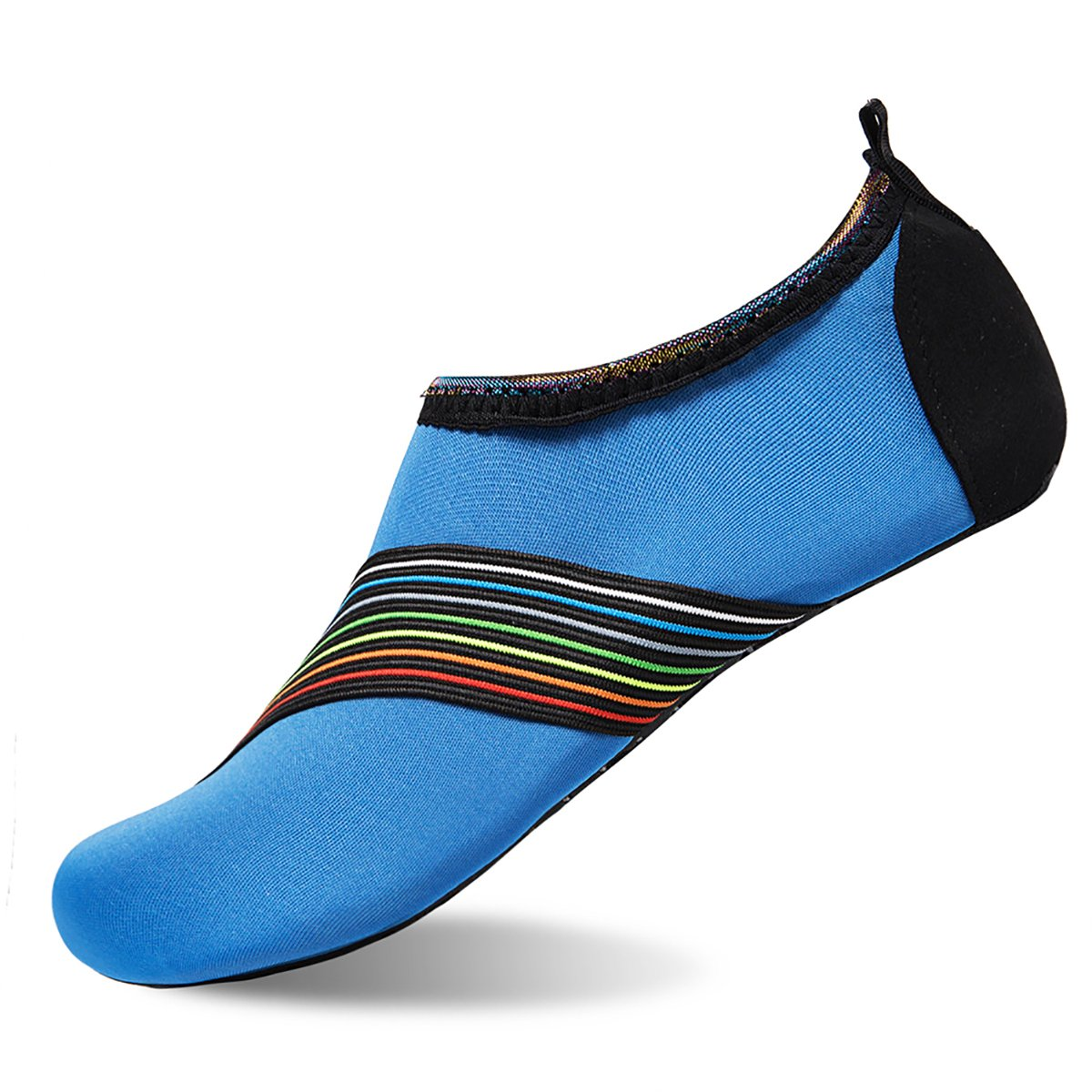 Womens and Mens Water Shoes Barefoot Quick-Dry Aqua Socks for Beach Swim Surf Yoga Exercise (Sd.Blue, S)