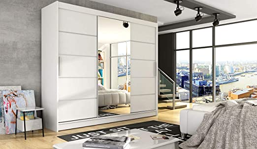 Mirjan24 Moderno Armario de Puertas correderas Aston Vi con Espejo ...