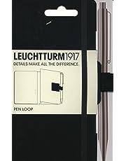 Leuchtturm1917 304637 Stiftschlaufe (15 mm elastische Schlaufe, selbstklebend, 40 x 40 mm) schwarz