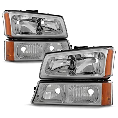 ACANII - For 2003-2006 Chevy Silverado 1500 2500 Headlights+Bumper Signal Lamps Driver + Passenger Side: Automotive