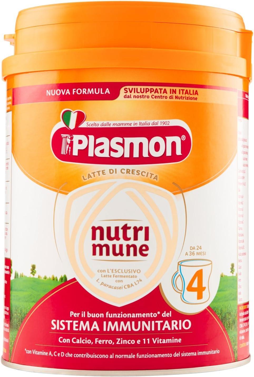 Plasmon Latte in Polvere Nutri Mune 4 - Pacco da 4 X...