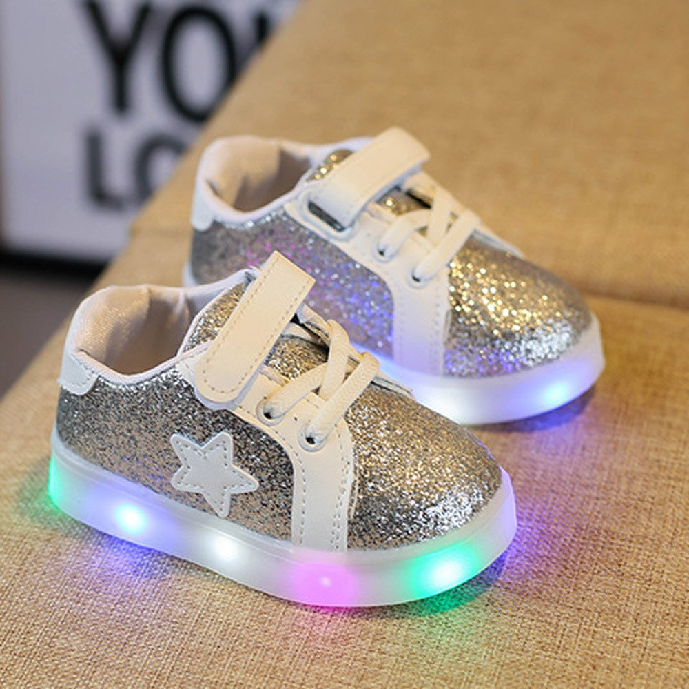LED Luminous Sneakers Lurryly Boys Girls Light Up Casual Shoes Toddler//Little Kid//Big Kid