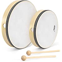 "Eastar Hand Drums for Kids Frame Drum 8"" & 10"" Musical Instrument for Kids Beginners Adults Drum Percussion Instrument…"