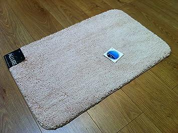 plain supersoft bathroom beige cream rubber backed nonslip bath mat only