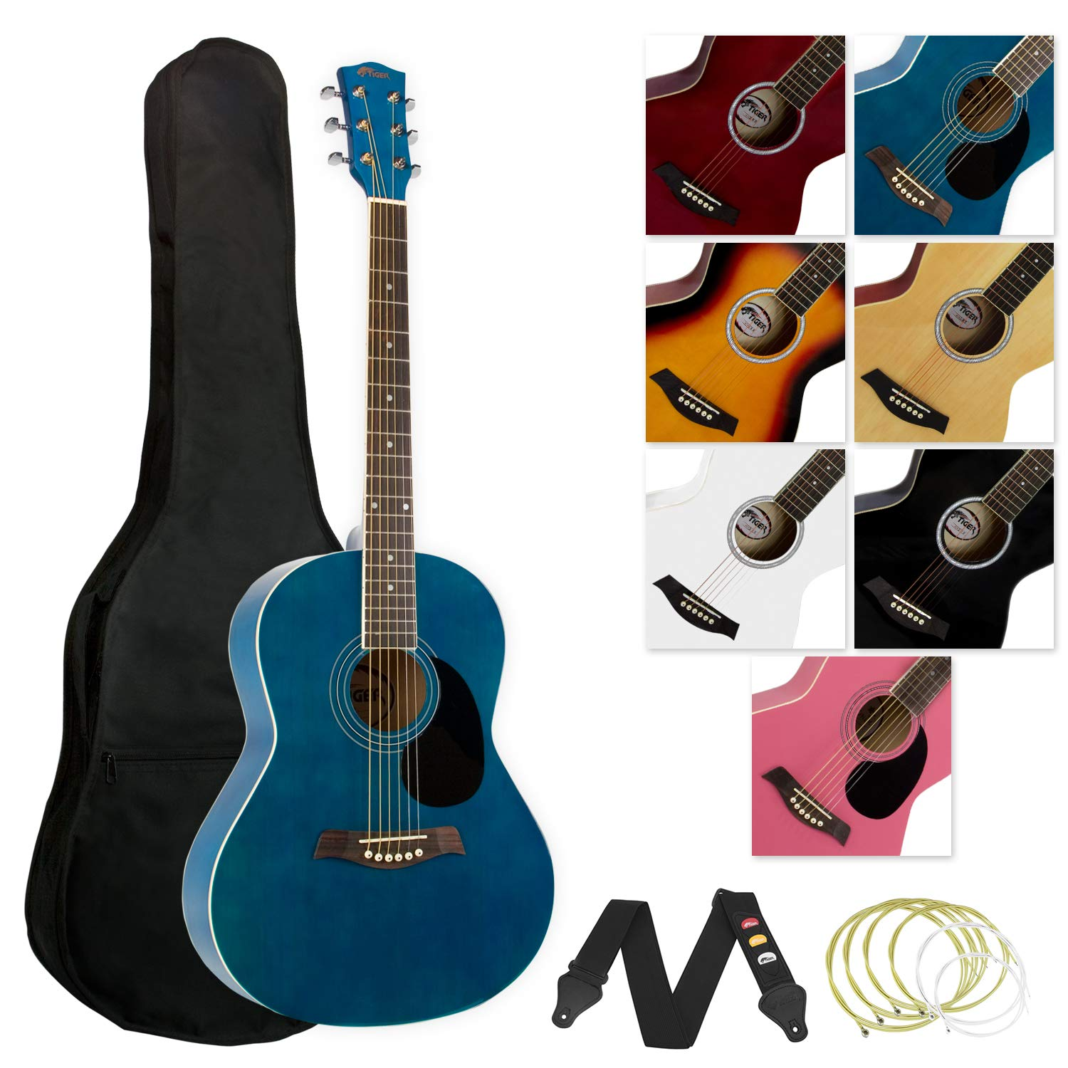 Tiger ACG2-BL Akustikgitarre Set - Blau Tiger Music