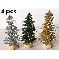 Alitrade 3 PCS Mini Christmas Tree Artificial Christmas Pine Tree Xmas Decoration