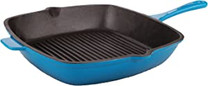 "Berghoff Neo 11"" Cast Iron Grill Pan Blue, Blue"