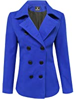 Tom's Ware Womens Trendy Double Breasted Wool Pea Coat