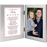 Daddy's Girl I'm So Happy You're My Dad Gift from Daughter to Father - Add Photo to Frame