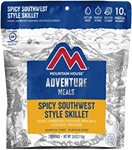 Mountain House Spicy Southwest Style Skillet | Freeze Dried Backpacking & Camping Food | Gluten-Free