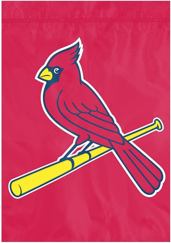 Party Animal St Louis Cardinals Premium 13x18 Nylon Garden Flag Applique & Embroidered Banner Baseball