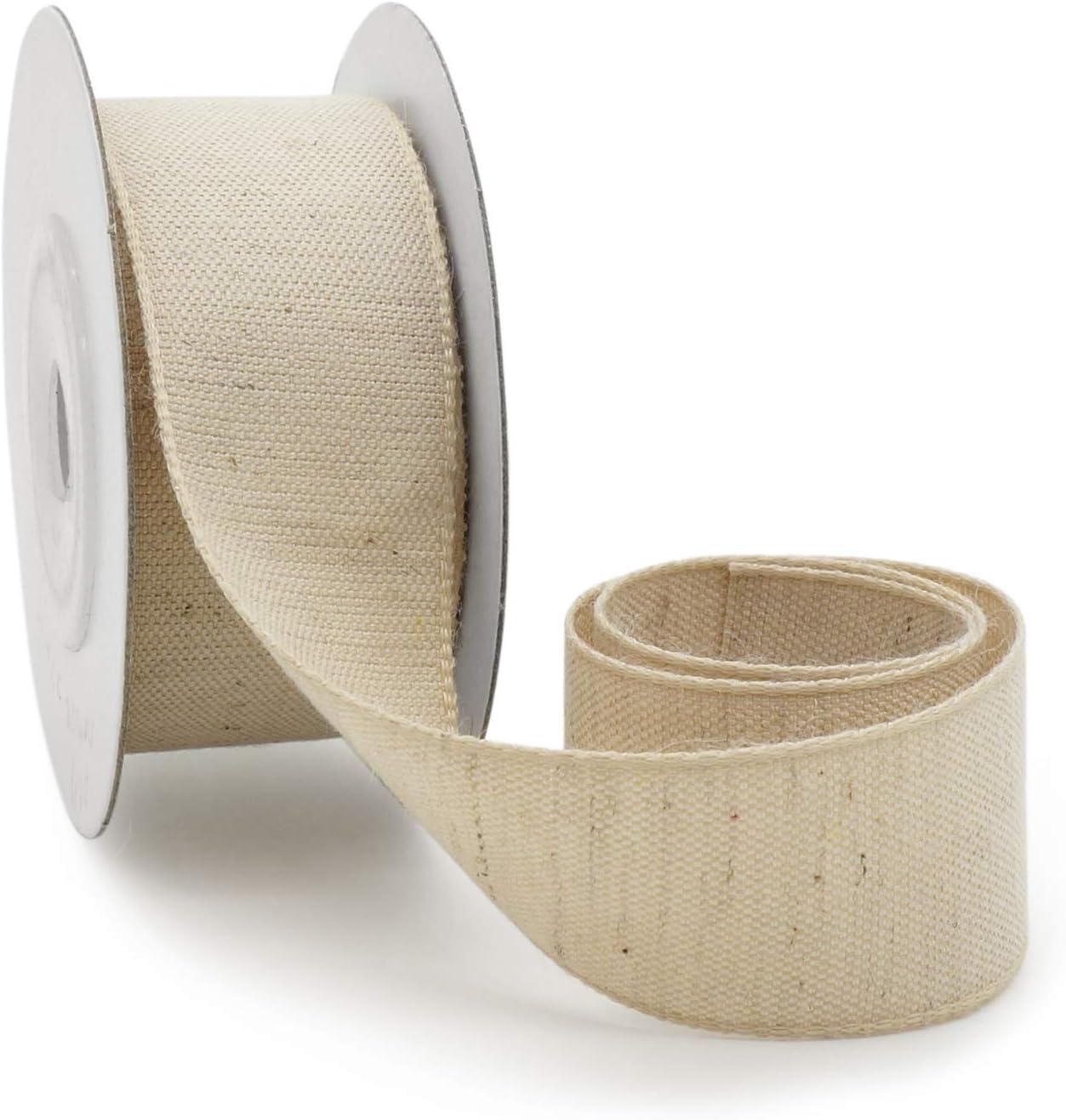 1654 - Cinta de lino y algodón, 017 Natural, 22 mm: Amazon.es: Hogar