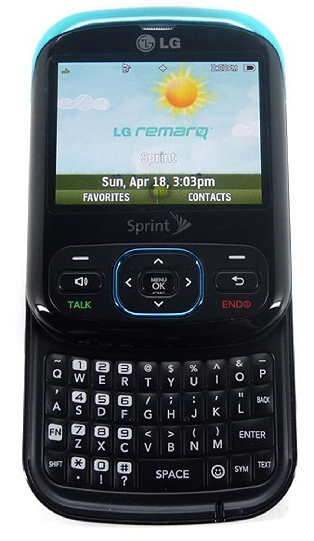 amazon com lg remarq ln240 sprint blue black cellular phone cell