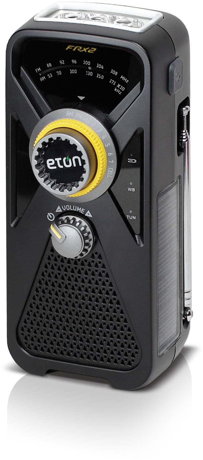 Eton FRX2 Hand Turbine AM/FM Weather Radio with Smartphone Charger - Black (NFRX2WXB) by Eton