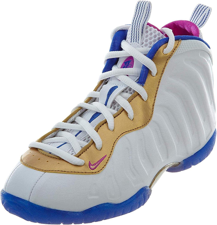 Nike Kid's Little Posite TD White/Fuchsia 723947-103 (Size: 10C)