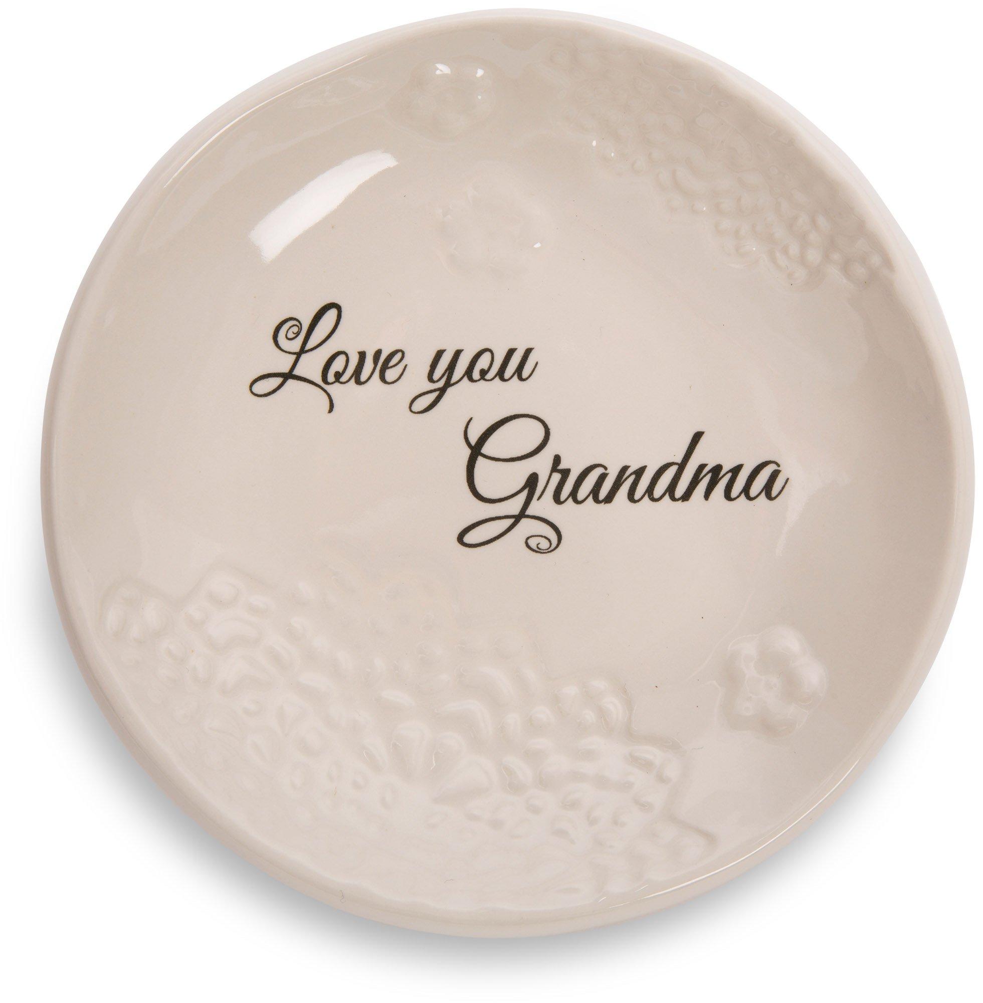 Pavilion Gift Company 19122 Light Your Way Everyday Love You Grandma Decorative Ceramic Plate, 5''